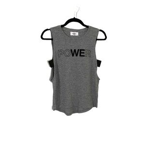 SOULCYCLE Gray Power Tank Top